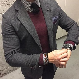 dunkelroter Pullover von Karl Lagerfeld
