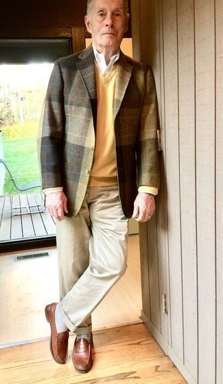 gelber Pullover von Luis Trenker