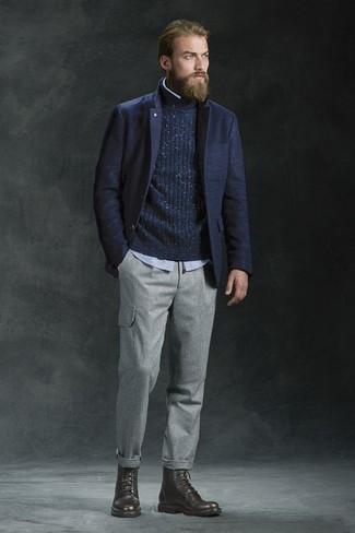 dunkelblauer Pullover von Tommy Hilfiger