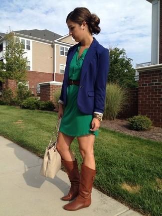 Grunes kleid stylen