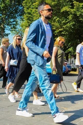 blaue Jacke von Urban Classics