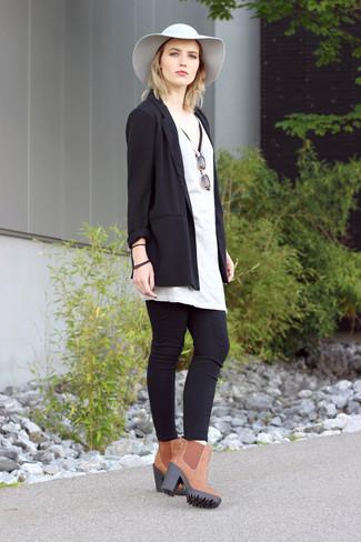 Wie Schwarze Jeans Mit Brauner Stiefel Zu Kombinieren 65