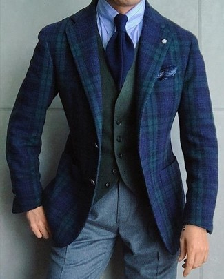 hellblaues vertikal gestreiftes Businesshemd von Selected Homme
