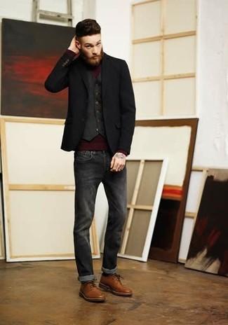 Schuhe schwarzes sakko braune ▷ Braun
