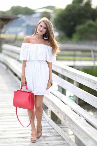 rote Shopper Tasche aus Leder von Fendi