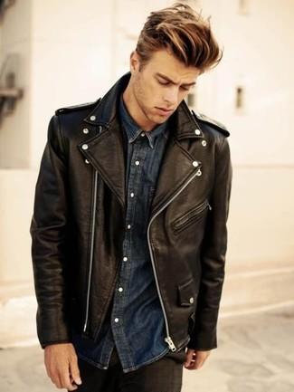 Schwarze jeans hemd hose