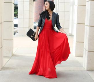 Rotes kleid chiffon