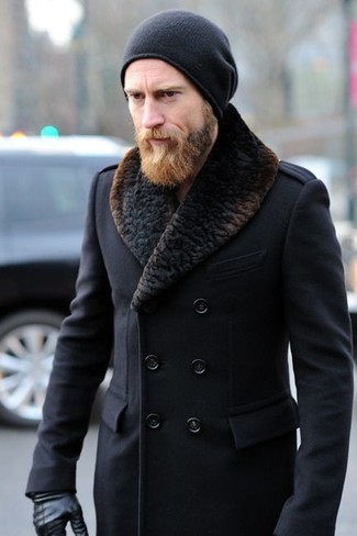 Mantel mit pelzkragen herren