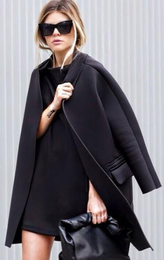 schwarzer Mantel von Joe Browns