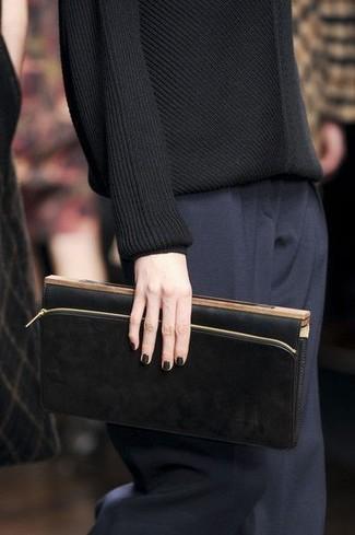 dunkelblaue Anzughose von SHEEGO CLASS