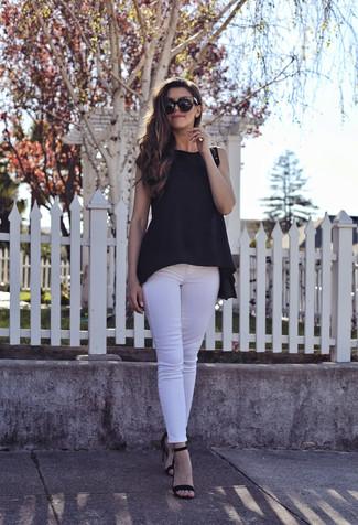 weiße enge Jeans von Isabel Marant Etoile