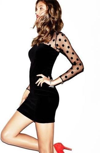 Gepunktetes Kleid für Damen kombinieren: Modetrends und Outfits für ...