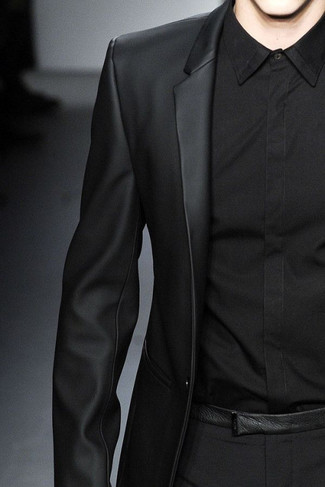 schwarzes Businesshemd von Casamoda