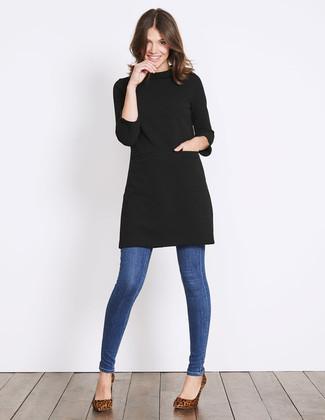 Wie Braune Schuhe Mit Schwarzen Kleides Zu Kombinieren 36 Damen Outfits 2021 Lookastic