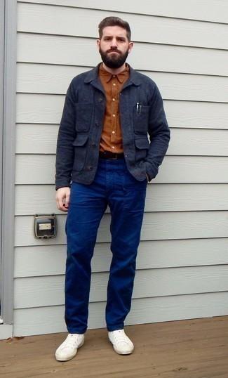 dunkelblaue Jacke von G-Star RAW