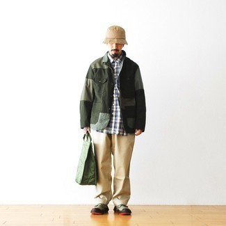 dunkelgrüne Jacke von CALAMAR MENSWEAR