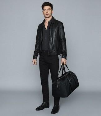 schwarze Jacke von El Ganso