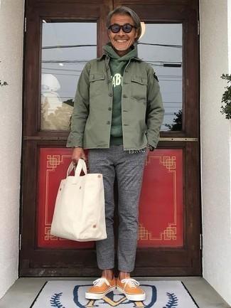 dunkelgrüner Pullover von Hilfiger Denim