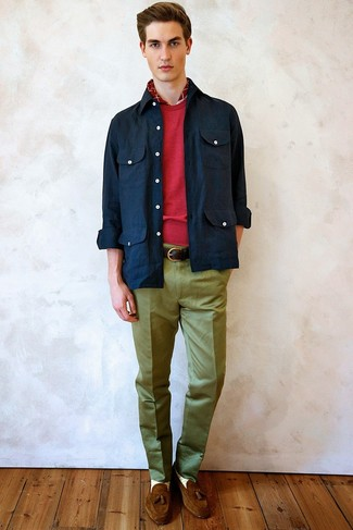 dunkelblaue Shirtjacke von Amiri