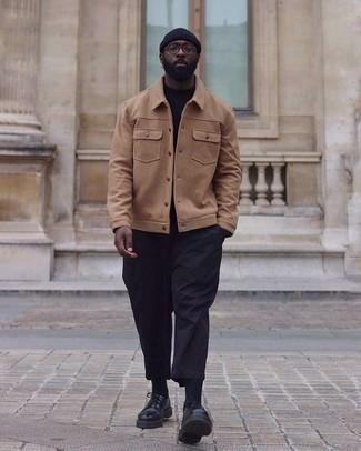 schwarzer Pullover von OZONEE