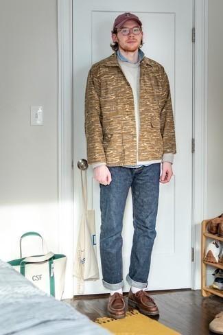 braune bedruckte Jacke von Geographical Norway