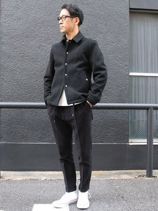 schwarze Jacke von Schott NYC