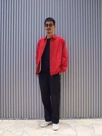rote Jacke von Jack & Jones