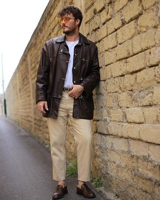 dunkelbraune Jacke von Bogner Man