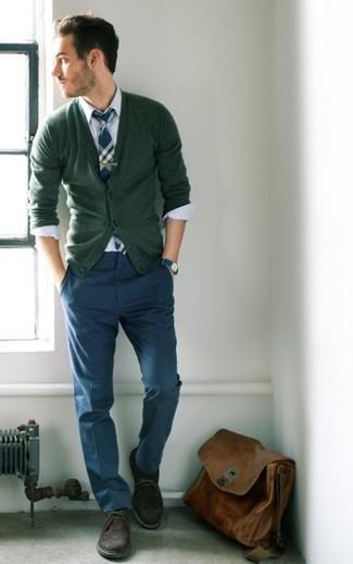 olivgrüne Strickjacke von Weekday