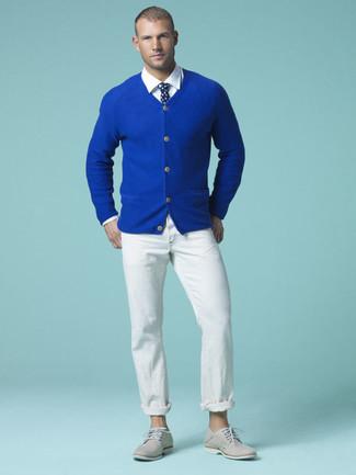 Welche Krawatten mit blauer Strickjacke zu tragen (57