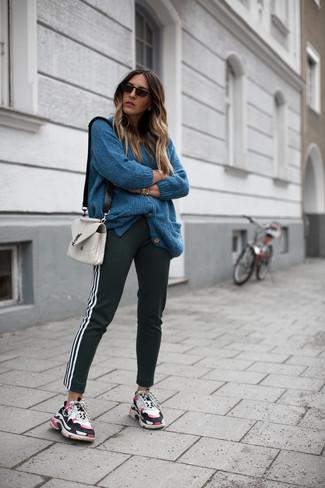dunkeltürkise strickjacke kombinieren - 32 damen outfits 2021 | lookastic