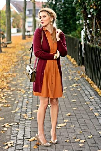 Oranges kleid kombinieren