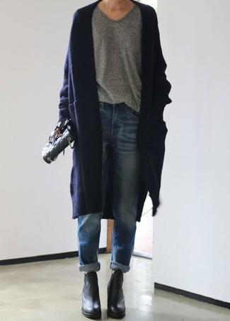 blaue Boyfriend Jeans von Iden Denim