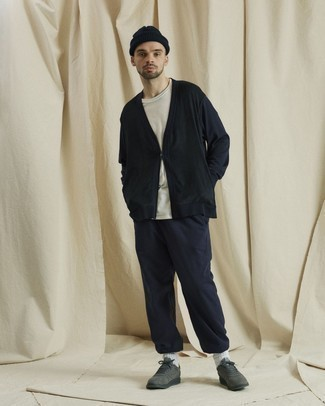 dunkelblauer Pullover von New Look