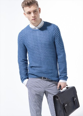 blauer Strickpullover von Gant