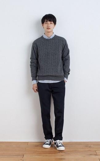 dunkelgrauer Pullover von Napapijri