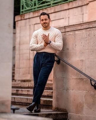 hellbeige Pullover von Hilfiger Denim