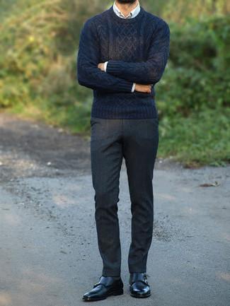 dunkelblauer Strickpullover von Gant