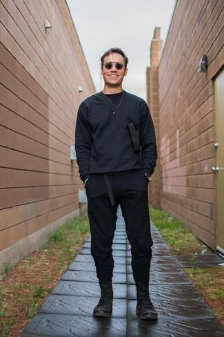 schwarzer Pullover von Gant