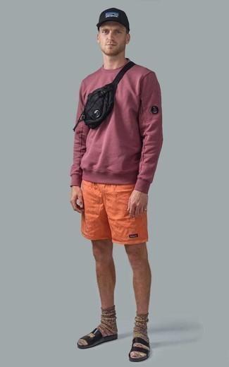 roter Pullover von SPRINGFIELD