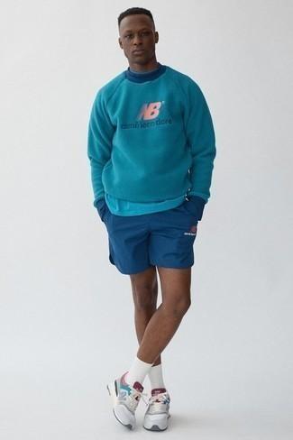 dunkeltürkiser Pullover von Maerz