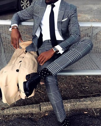 dunkelbraunes geflochtenes Lederarmband von Polo Ralph Lauren