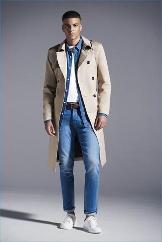 Welche Jeans mit weißer niedriger Sneakers zu tragen (420
