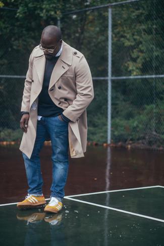 gelbe niedrige Sneakers von adidas
