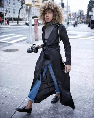 schwarzer leichter Trenchcoat von Isabel Marant