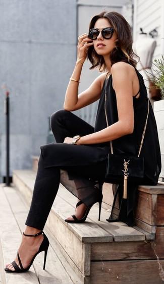 schwarze Wildleder Sandaletten von Miss KG