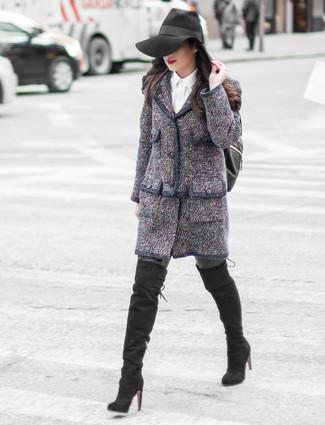Graue Strumpfhose Kombinieren 28 Kombinationen Damenmode Lookastic