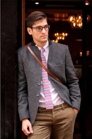 rosa Langarmhemd von Tommy Hilfiger Tailored