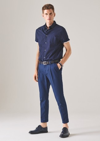 dunkelblaues Kurzarmhemd von Jack & Jones