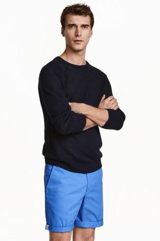 schwarzer Pullover mit einem Rundhalsausschnitt von next